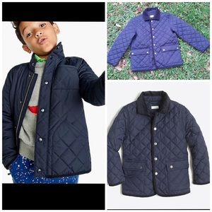 J. Crewcuts Barn Coat Quilted Size 6-7